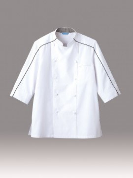 ARB-BC7123 ジャケット(男女兼用・七分袖)  拡大画像・ホワイト