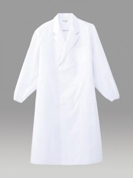 ARB-CA6640 ホワイトコート(メンズ・長袖) 拡大画像・ホワイト