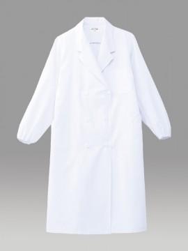ARB-CA6641 ホワイトコート(レディス・長袖) 拡大画像・ホワイト