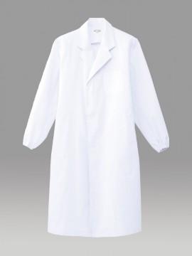 ARB-CA6642 ホワイトコート(メンズ・長袖) 拡大図・ホワイト