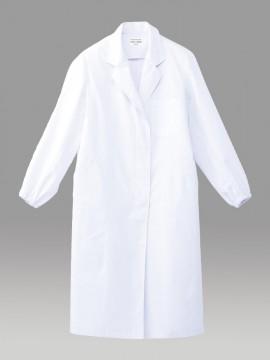 ARB-CA6643 ホワイトコート(レディス・長袖) 拡大画像・ホワイト