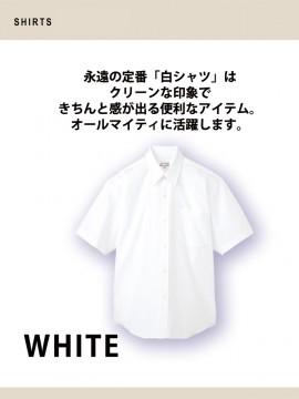 ARB-EP828 シャツ(メンズ・半袖) 白シャツ
