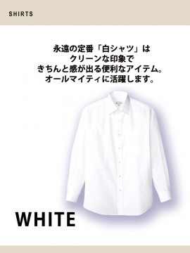 ARB-EP6849 シャツ(メンズ・長袖) 白シャツ