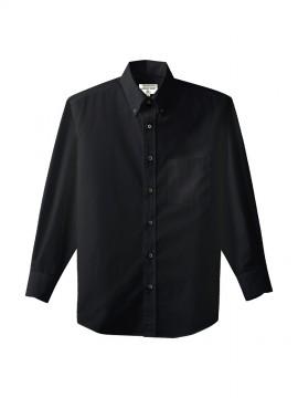 ARB-EP7616 ボタンダウンシャツ(男女兼用・長袖) ブラック