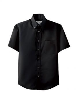 ARB-EP7617 ボタンダウンシャツ(男女兼用・半袖) トップス ブラック