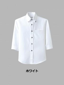 ARB-EP7619 ボタンダウンシャツ(男女兼用・七分袖) トップス カラー一覧