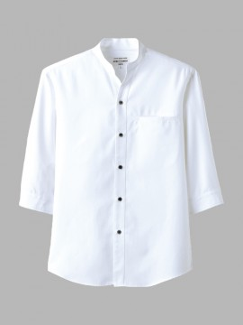 ARB-EP7620 スタンドカラーシャツ(男女兼用・七分袖) ホワイト