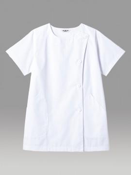 SR-2304 白衣(レディス・半袖) 拡大画像