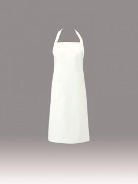 ARB-T63 エプロン(男女兼用) ユニセックス ホワイト 白