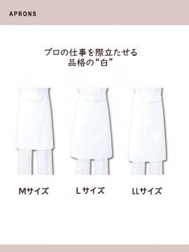 ARB-T81 前掛(男女兼用) サイズ