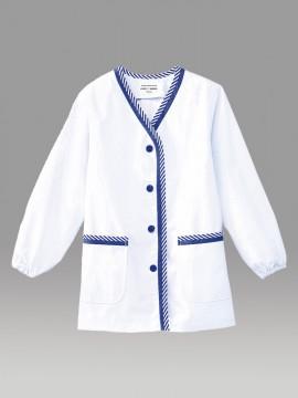 ARB-1337 白衣(レディス・長袖) 拡大画像