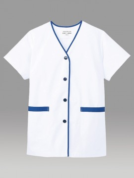 ARB-2390 白衣(レディス・半袖) 拡大画像