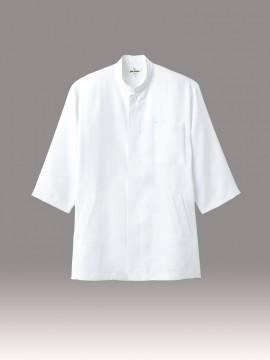 コックシャツ(男女兼用・五分袖) ホワイトコックコート