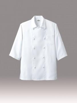ARB-7753 ダブルコックシャツ(男女兼用・五分袖) ホワイトv