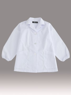 CR-EL200 婦人衿付き調理衣(長袖・ゴム入り) トップス ホワイト 白