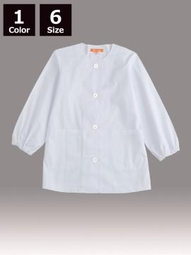 CR-ML100 婦人丸首調理衣(長袖・ゴム入り) トップス