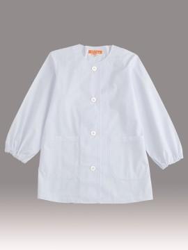 CR-ML100 婦人丸首調理衣(長袖・ゴム入り) トップス ホワイト 白