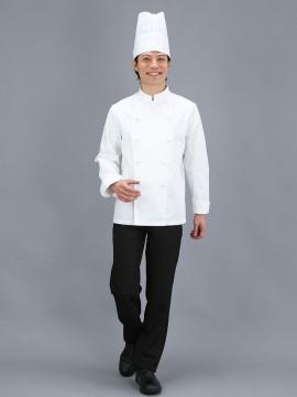 T/Cコックコート(長袖・男女兼用)