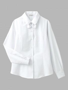 ARB-BL6814 ブラウス(レディス・長袖) 拡大画像・ホワイト