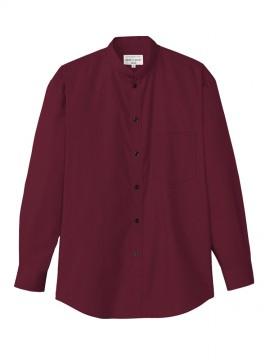 ARB-EP6839 スタンドカラーシャツ(男女兼用・長袖) ワイン
