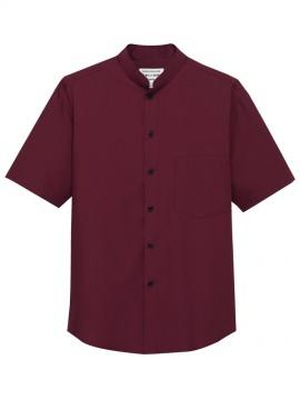 ARB-EP6840 スタンドカラーシャツ(男女兼用・半袖) ワイン