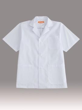 CR-EH600 衿付き調理衣(メンズ・半袖) トップス ホワイト 白