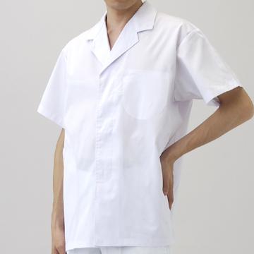 CR-EH600 衿付き調理衣(メンズ・半袖) トップス モデル着用画像