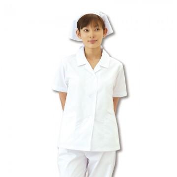 CR-EH200 衿付き調理衣(レディス・半袖) トップス モデル着用