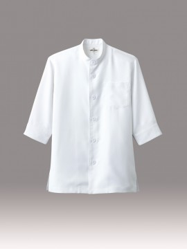 ARB-7751 コックシャツ(男女兼用・五分袖)