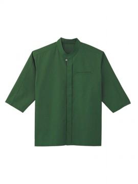 BS-08931 エスニックシャツ(男女兼用) 緑