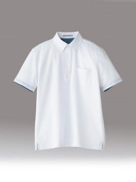 BM-FB5024M 吸水速乾メンズポロシャツ(花柄A) 拡大画像 ホワイト