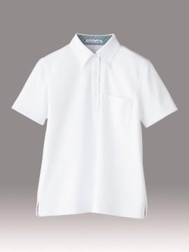 BM-FB4017L レディス吸水速乾ポロシャツ(チェック)  ホワイト