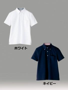 BM-FB4017L レディス吸水速乾ポロシャツ(チェック)  カラー一覧 ホワイト ブラック