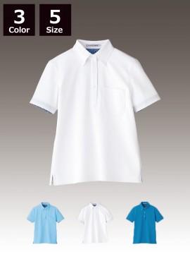 FB4018L レディス吸水速乾ポロシャツ(花柄A)