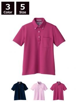 FB4019L レディス吸水速乾ポロシャツ(花柄B)