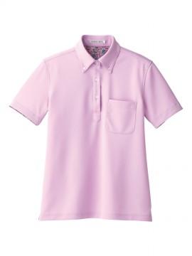 FB4019L レディス吸水速乾ポロシャツ(花柄B) 拡大画像