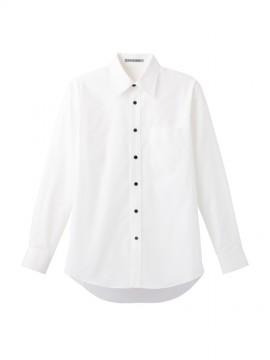 BM-FB4526U ブロードレギュラーカラー長袖シャツ 拡大画像 ホワイト