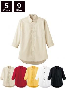 BM-FB4528U ブロードレギュラーカラー七分袖シャツ