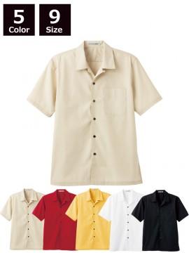 BM-FB4529U ブロードオープンカラー半袖シャツ