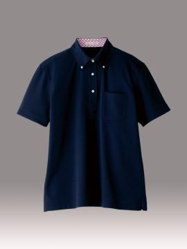 BM-FB5023M 吸水速乾メンズポロシャツ(チェック) 拡大画像 ネイビー