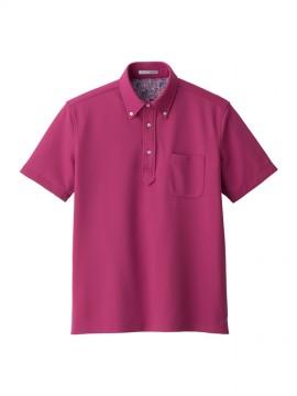 BM-FB5025M 吸水速乾メンズポロシャツ(花柄B) 拡大画像 ピンク