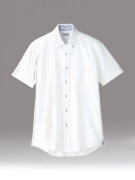 BM-FB5027M メンズ吸汗速乾ニット半袖シャツ トップス ホワイト 白