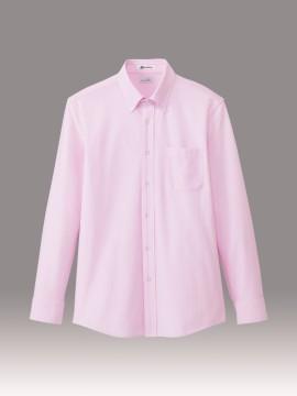 メンズニット吸汗速乾長袖シャツ ピンク