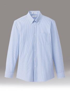 メンズニット吸汗速乾長袖シャツ ブルー 青