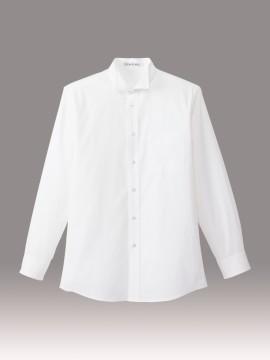 BM-FB5032M メンズウイングカラー長袖シャツ 拡大画像 ホワイト