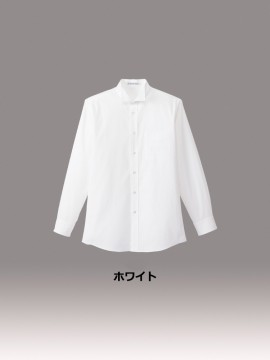 BM-FB5032M メンズウイングカラー長袖シャツ カラー一覧 ホワイト