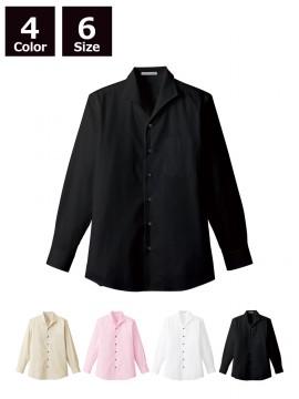 メンズイタリアンカラー長袖シャツ