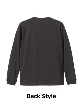 CB-5011 5.6オンス ロングスリーブ Tシャツ(1.6インチリブ) バックスタイル