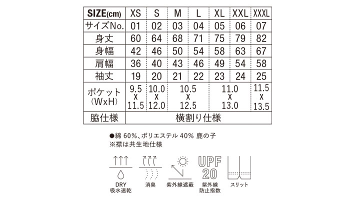 5.3oz ドライカノコ ユーティリティー ポロシャツ(ボタンダウン)(ポケット付)