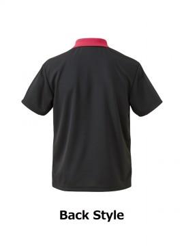 CB-5910 4.1オンス ドライアスレチック ポロシャツ バックスタイル